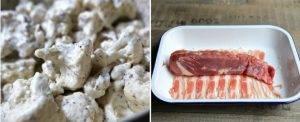 Свиная вырезка в беконе с цветной капустой - 0