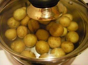 Шашлычки из свинины с картошкой в духовке - 0
