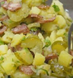 Немецкий картофельный салат с охотничьими колбасками - 6