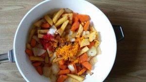 Суп из тыквы с репой, морковью и соком апельсина - 14