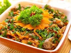 Салат с морковью и печенью - 4