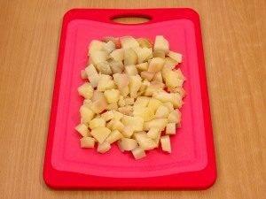 Салат с селедкой, картофелем и яблоком - 1