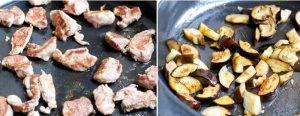 Жареная свинина с баклажанами и помидорами - 1