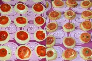 Закуска из слоеного теста и помидоров - 2