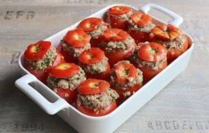 Фаршированные помидоры свиным фаршем - 2