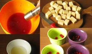 Сыр в ягодном желе - 1