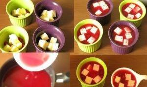 Сыр в ягодном желе - 2