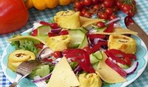 Салат с омлетом - 3