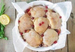 Куриные бедра, запеченные с яблоками - 3