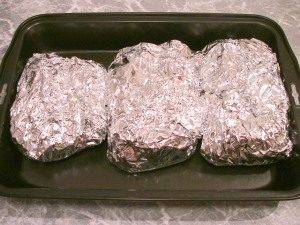 Рыба с картофелем, запеченные в фольге - 4