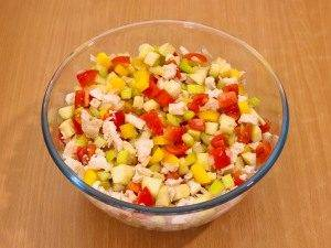 Салат с сельдереем, яблоком и куриным филе - 8
