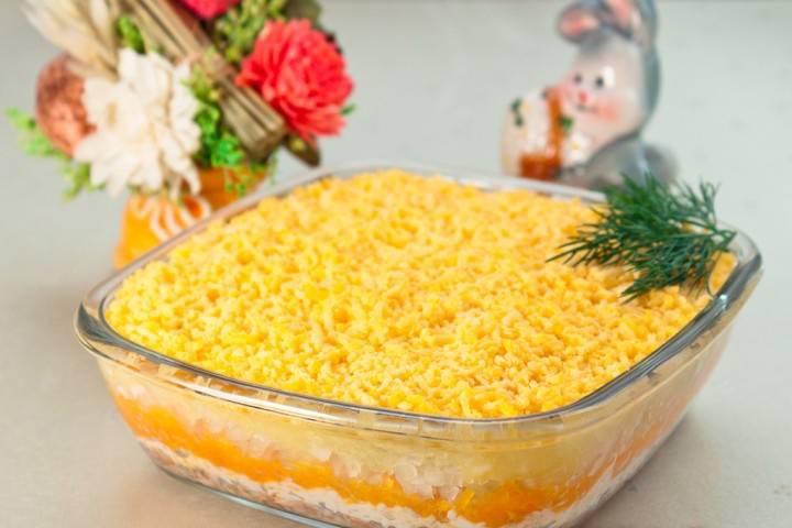 Салат мимоза с морковью рецепт с фото