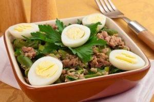 Салат с тунцом и стручковой фасолью - 4