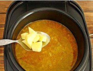 Суп из замороженных грибов в мультиварке - 2