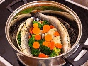 Сибас на пару с овощами - 2