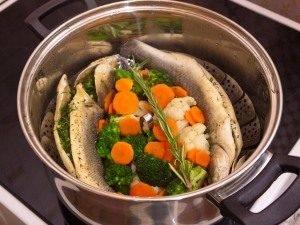 Сибас на пару с овощами - 3