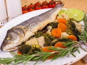 Сибас на пару с овощами - 4