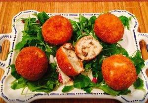 Аранчини с моцареллой и грибами - 3