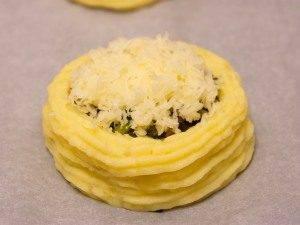 Гнездышки из картофеля с грибами - 5