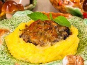 Гнездышки из картофеля с грибами - 6