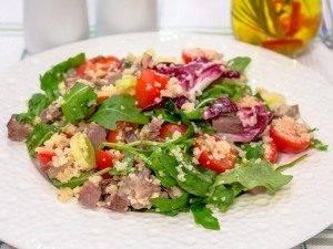 Салат с мясом, кускусом и черри - 7