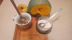 Медовый тыквенный десерт с яблоками - 0