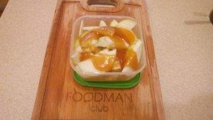 Медовый тыквенный десерт с яблоками - 4