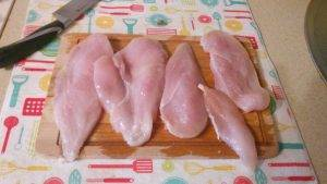 Запеченое куриное филе с адыгейским сыром в специях - 1