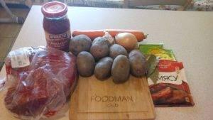 Тушеная говядина с морковью и картофелем - 0