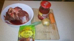 Отварная говядина с морковью и луком - 0