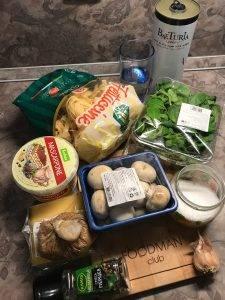 Паста с шампиньонами, шпинатом и сыром маскарпоне - 0