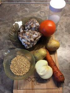 Вегетарианский грибной суп с перловкой - 0