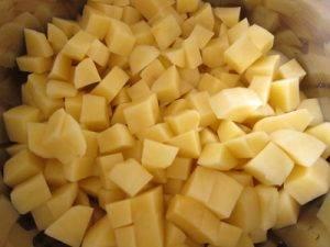 Постная гороховая каша с картофелем - 0