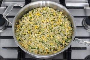 Черная фасоль с рисом и цукини - 0