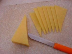 Новогодняя ёлка из сыра - 1