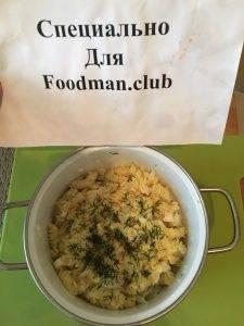 Макароны с сыром и отварным луком - 8