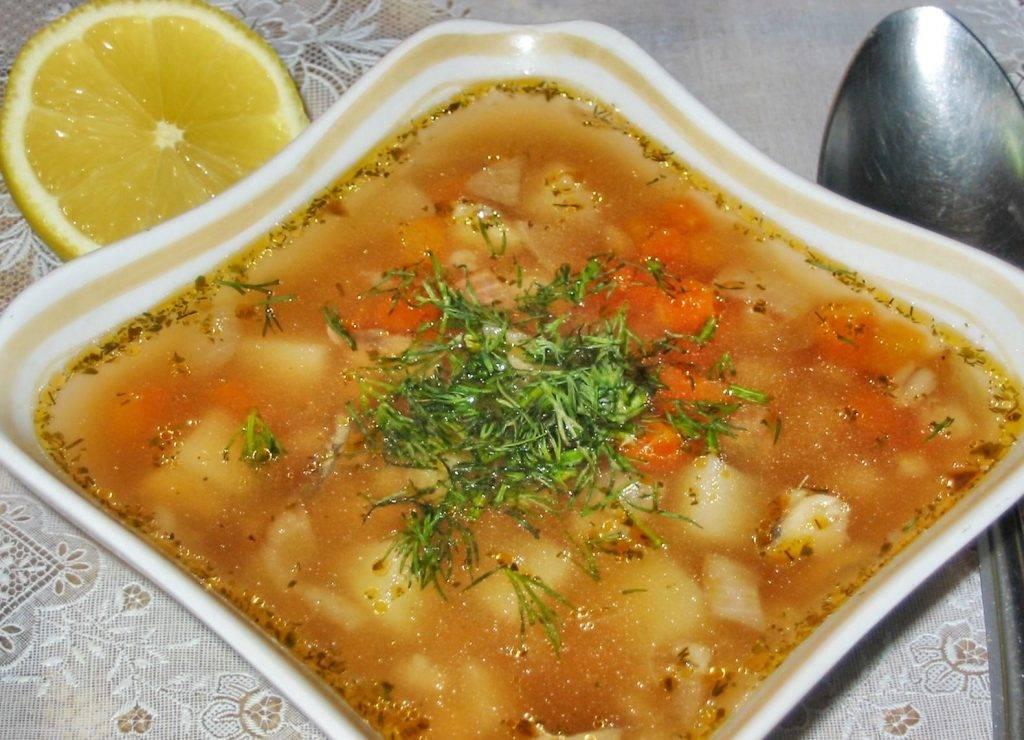 Рыбный суп с перловой крупой