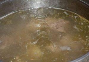 Овощной крем суп на мясном бульоне - 0