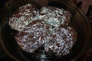 Мясо с грибами и помидорами - 2