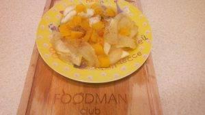 Медовый тыквенный десерт с яблоками - 7