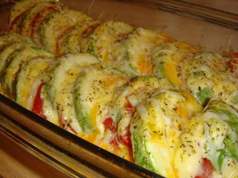 кабачки с помидорами с сыром в духовке рецепты с фото