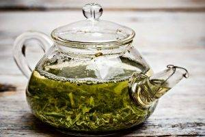 Зеленый чай с печеным яблоком - 1