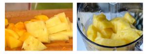 Йогурт с персиком и ананасом - 1