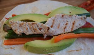 Роллы с курицей и авокадо в лаваше - 3