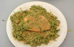 Сыр Проволоне в панировочных сухарях с рукколой в духовке - 2