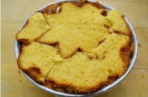 Торт из кекса Пандоро с кремом из сыра и печенья Oreo - 4