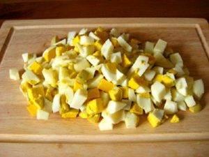 Салат с мандаринами и горшком в тарталетках - 0