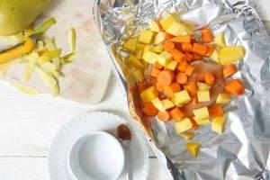 Куриное пюре с манго и морковью - 0