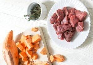 Пюре из говядины и сладкого картофеля с тимьяном - 0
