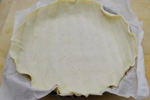 Пирог с ветчиной, помидорами и сыром - 0